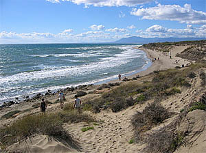 The sand-dunes are a protected area of Cabopino beach